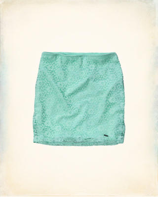 Hollister Natural Waist Lace Slim Skirt