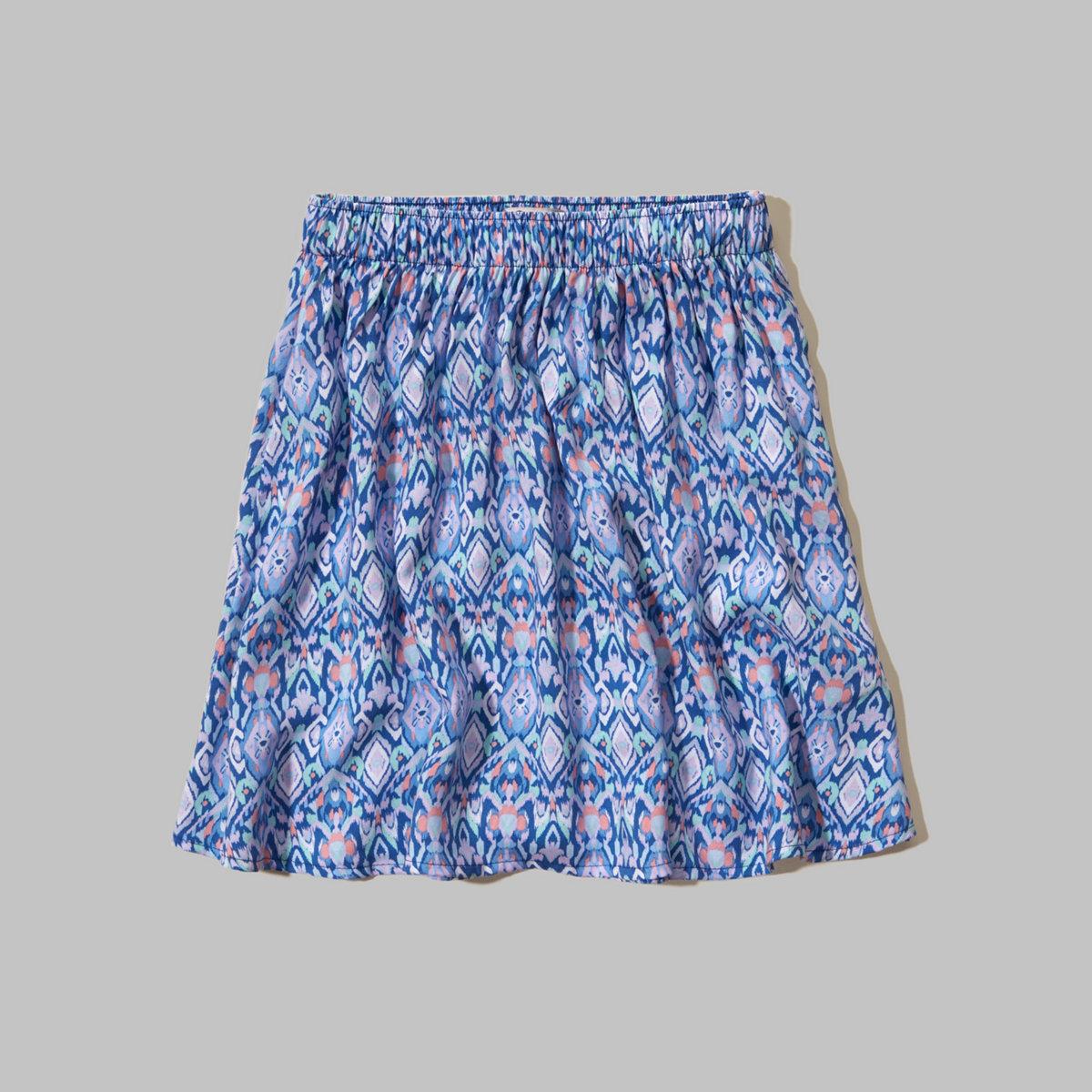 Hollister Printed Skater Skirt
