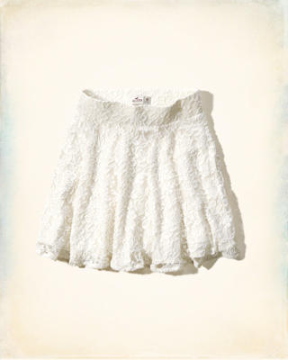 Pebbly Beach Lace Skater Skirt