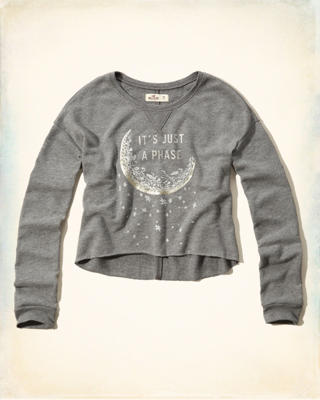 Celestial Shine Graphic Cropped Sweatshirt