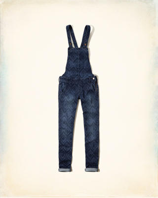 Hollister Printed Overalls