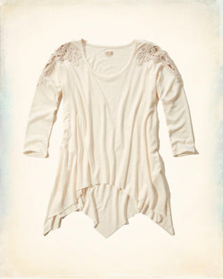 Pacific Lace Shoulder T-Shirt