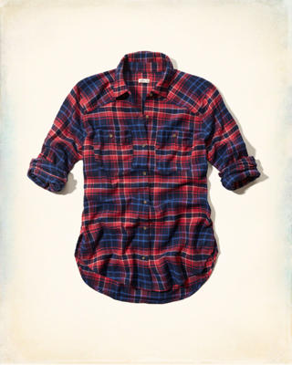 Stone Steps Beach Flannel Longer Length Shirt