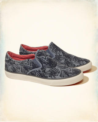 Hollister Palm Print Slip On Sneakers