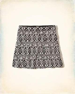 Malibu Jacquard Mini Skirt