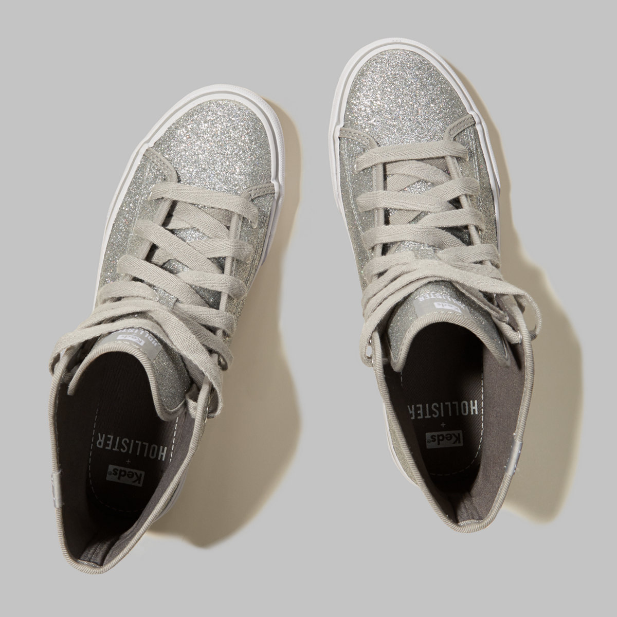 Hollister + Keds Glitter Hi Top Sneakers