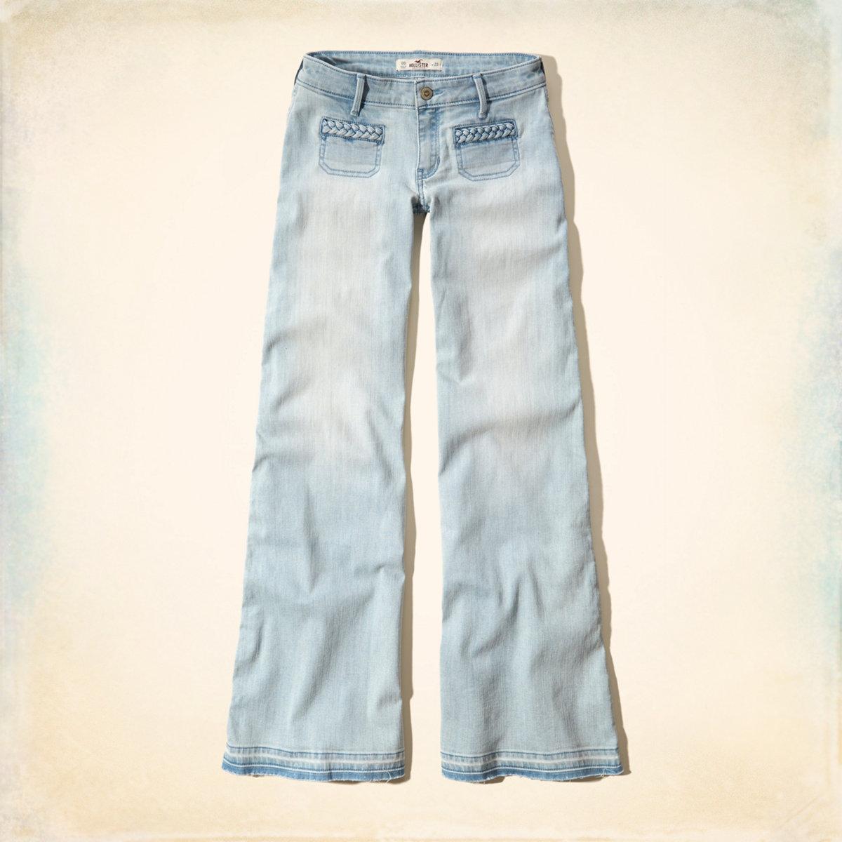 Hollister Wide Leg Flare Jeans