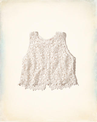 Solana Beach Lace Crop Top