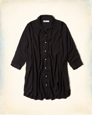 Oversized Sheer Chiffon Shirt