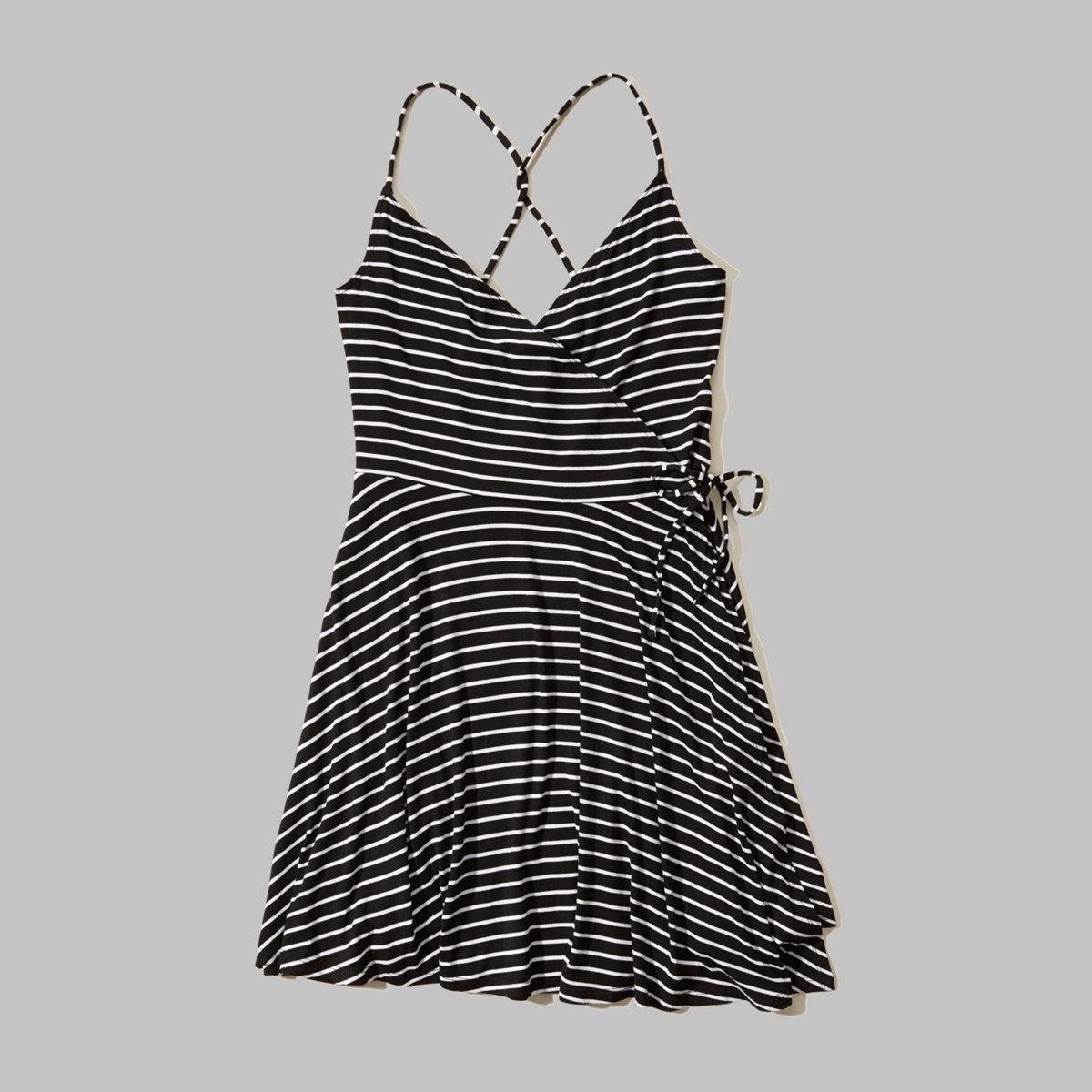 Knit Wrap Skater Dress