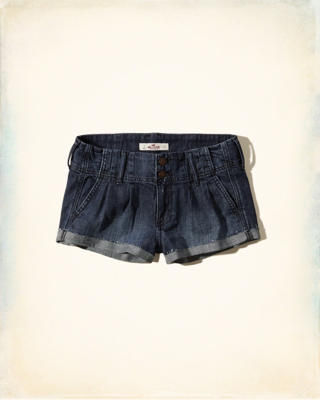 Hollister Low Rise Pleated Boyfriend Shorts