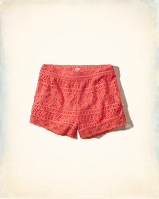 Crochet Lace Drapey Shorts