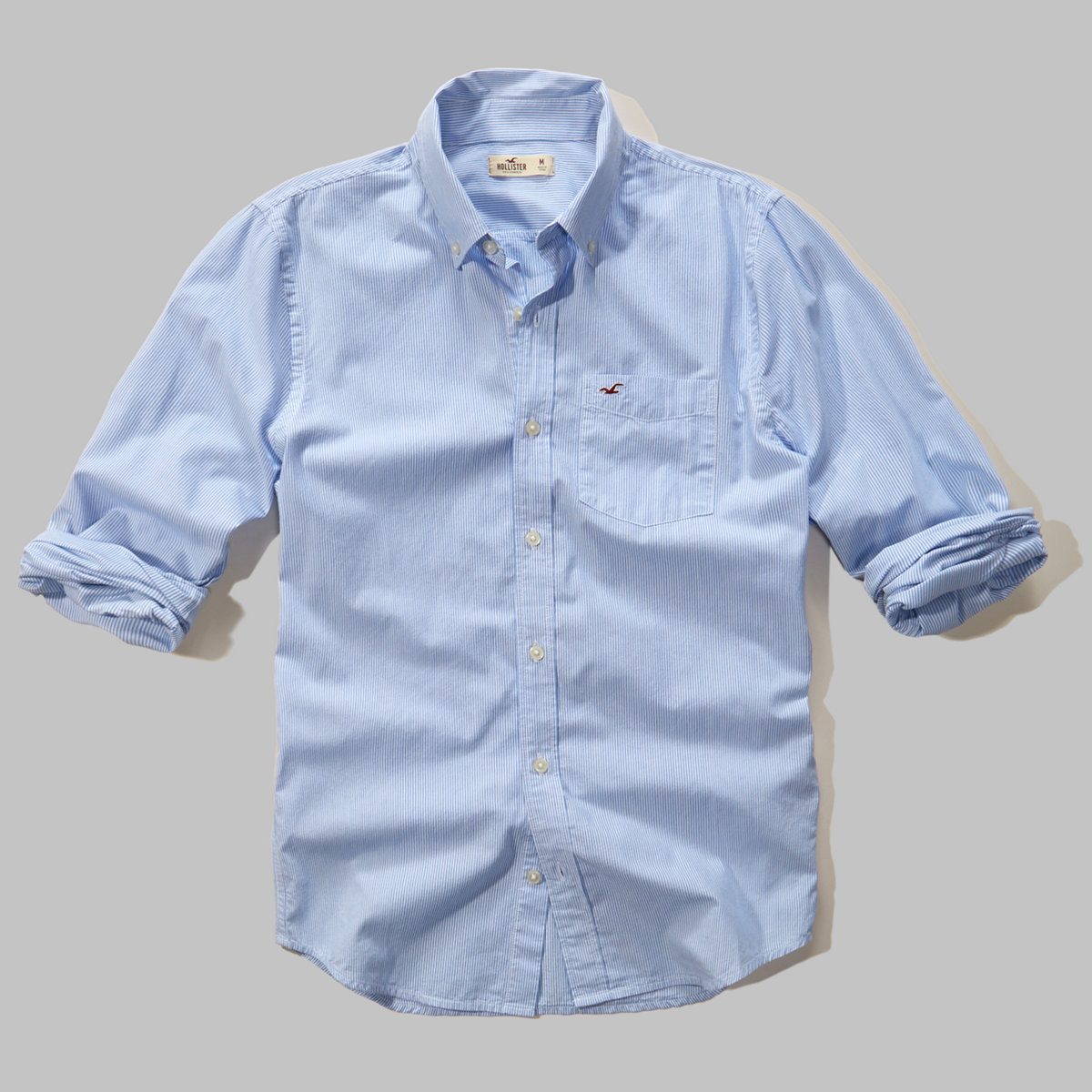 Light Blue Microstripe Shirt