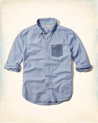 Contrast-pocket Poplin Shirt
