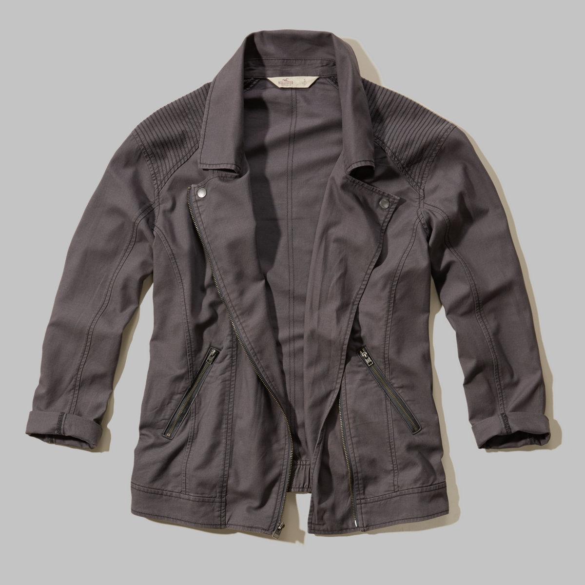 Twill Biker Jacket
