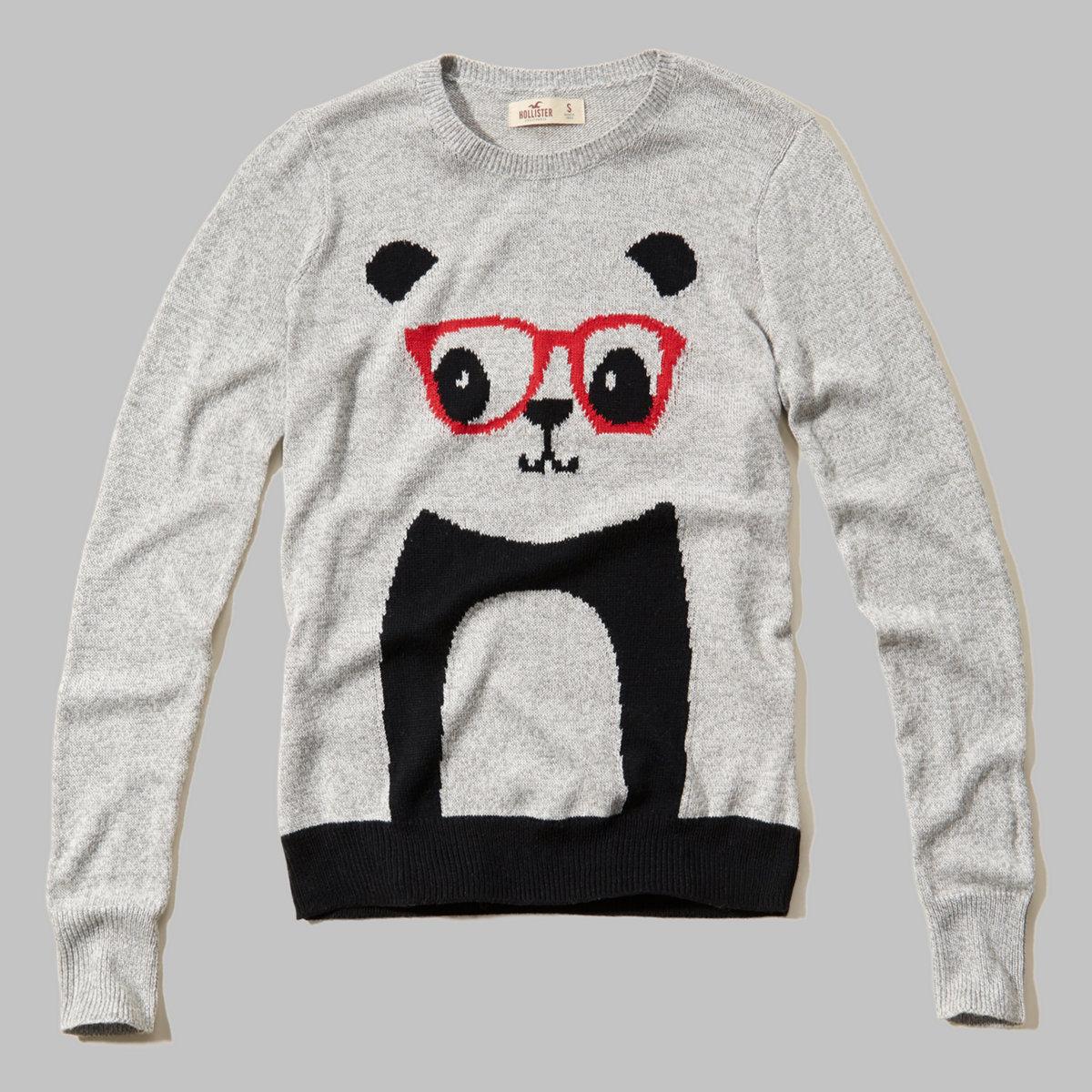 Fine Gauge Intarsia Crewneck Sweater