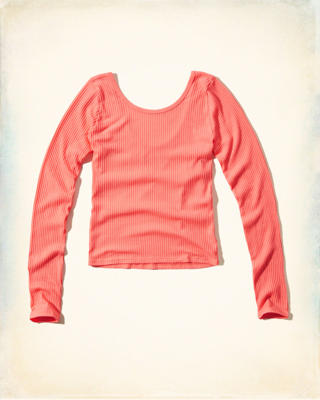 Ribbed Scoop Neck Crop Top
