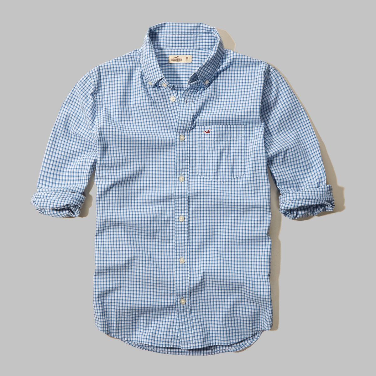 Microcheck Poplin Shirt