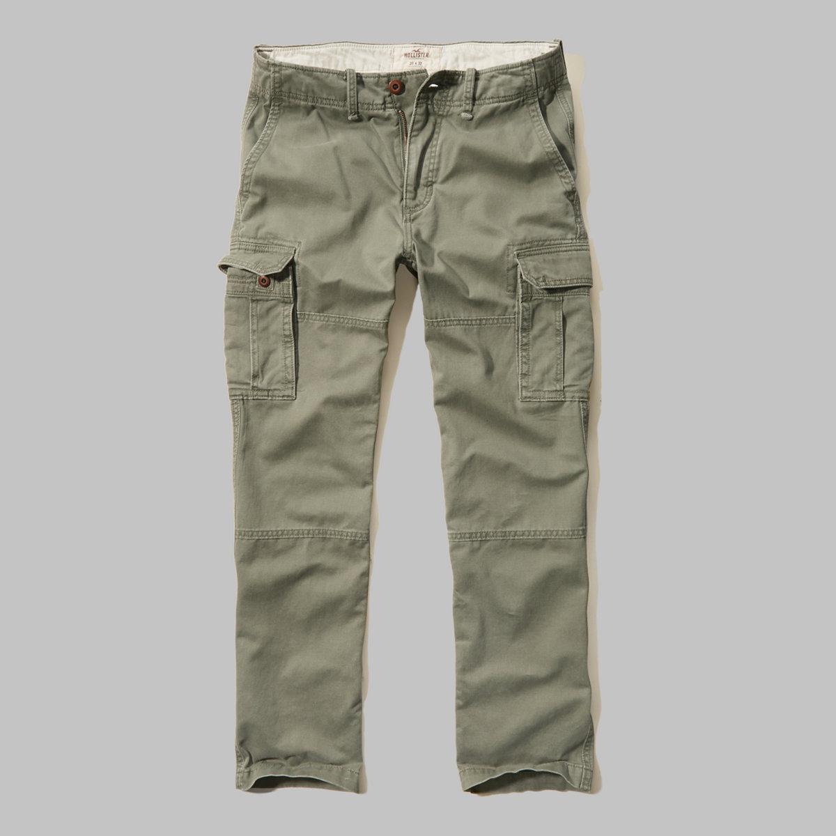 Hollister Slim Cargo Zipper Fly Pants