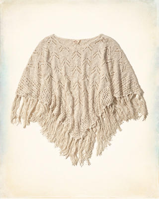 Open Stitch Fringe Poncho