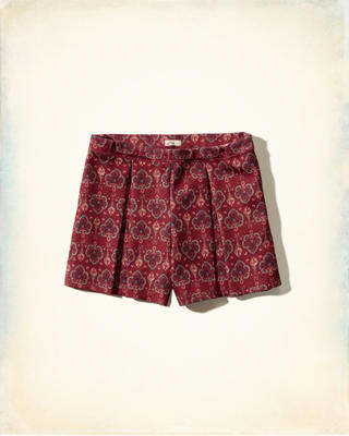 Pleated Neoprene Shorts