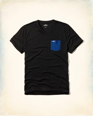 Must-Have Contrast Pocket T-Shirt