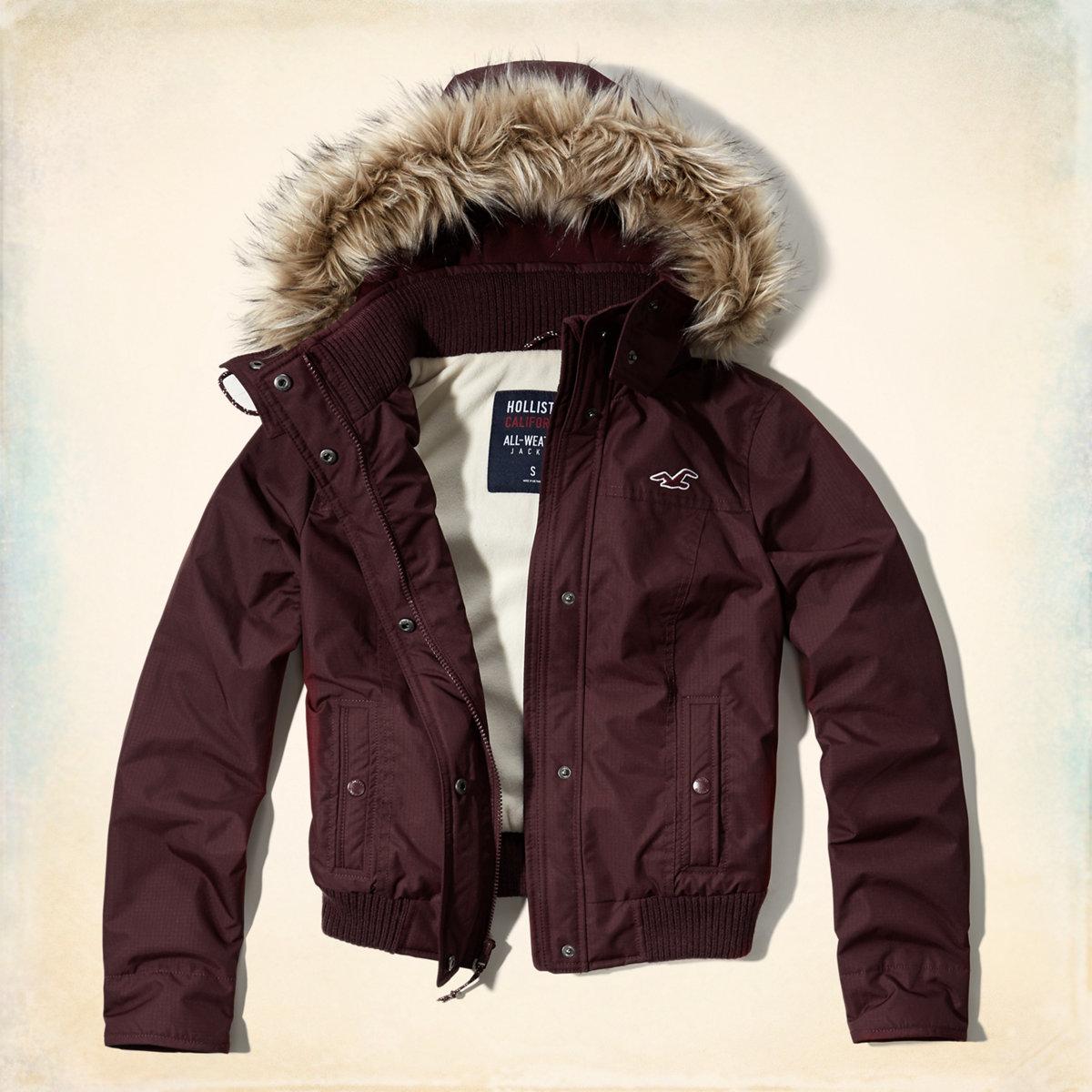 Hollister All-Weather Bomber Jacket