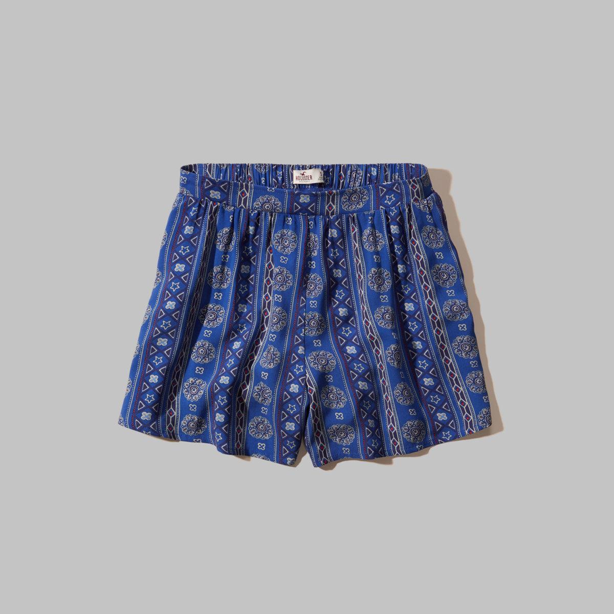 Patterned Drapey Shorts