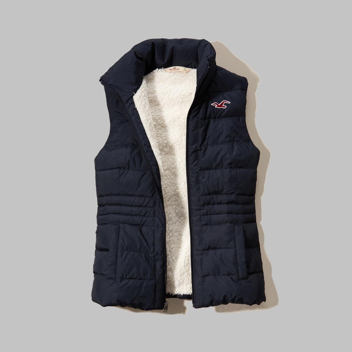 Hollister Sherpa Lined Puffer Vest