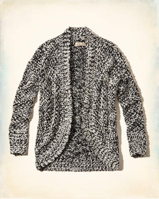 Textured Cocoon Cardigan