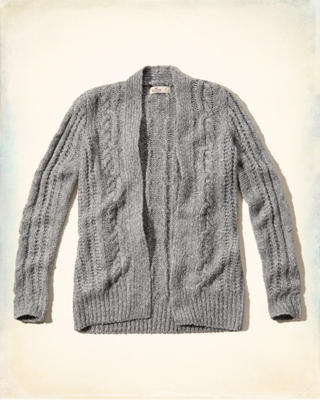 Cable Open Sweater