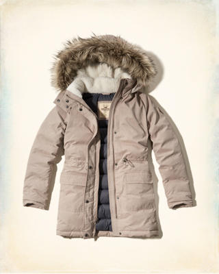 Hollister Heritage Down Filled Parka