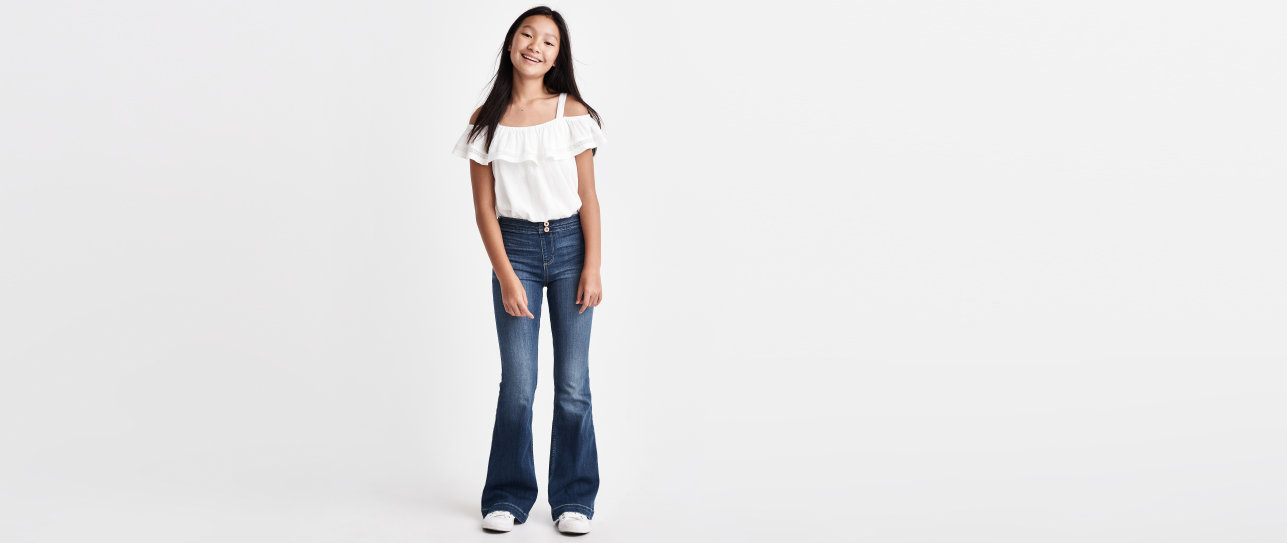 girls flare jeans