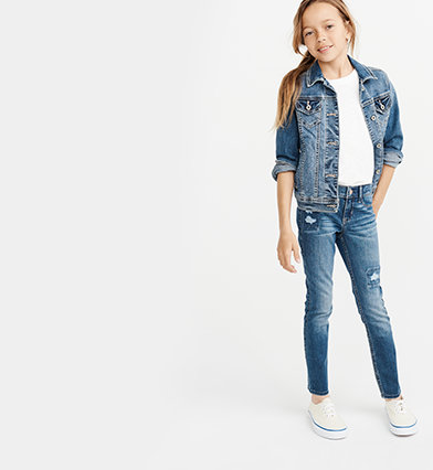 bb35356a girls jeans | abercrombie kids