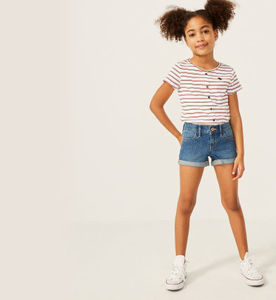 d6d3eba7c3 girls shorts & skirts | abercrombie kids