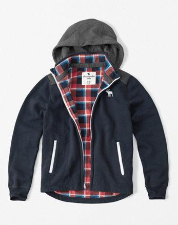 kids winter fleece-lined hoodie