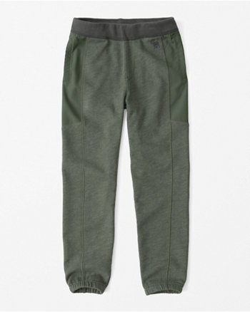kids fabric mixed joggers