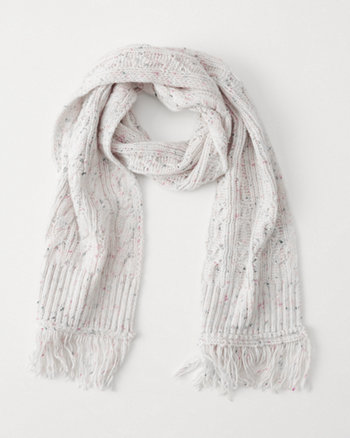 kids solid cable scarf