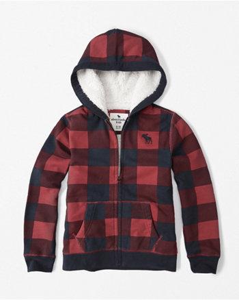 kids sherpa fleece hoodie
