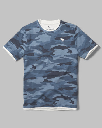 kids layered camo tee