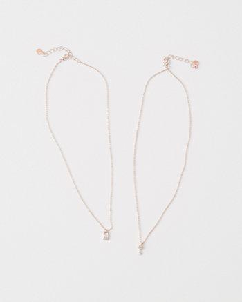 kids best friends pendant necklace set