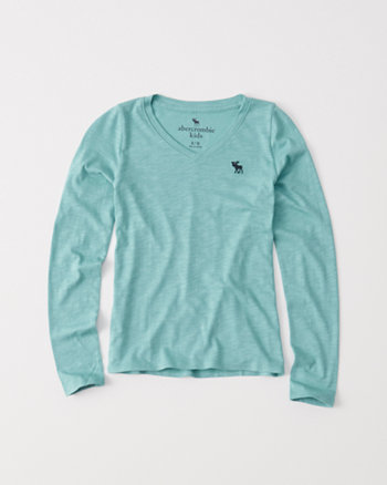 kids long-sleeve v-neck tee