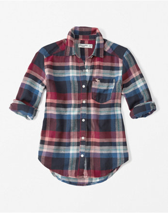 kids plaid flannel shirt
