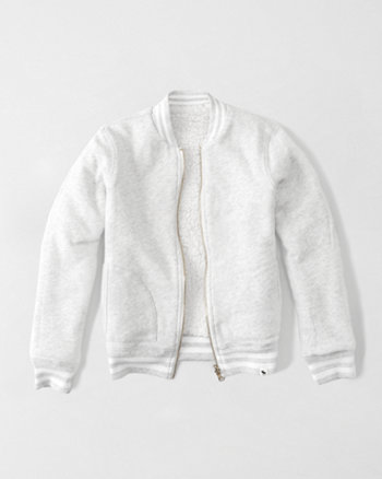 kids reversible fleece bomber jacket