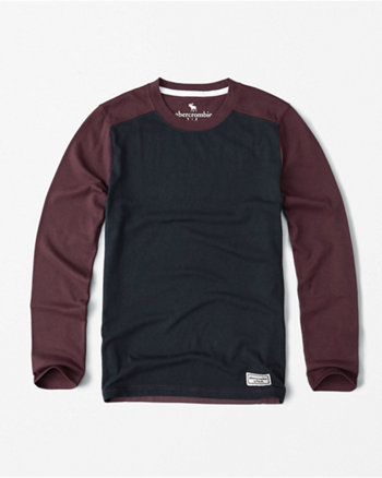 kids colorblock long-sleeve tee