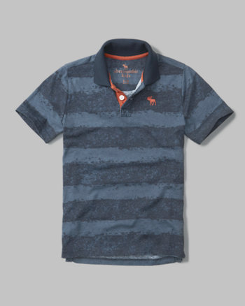 kids icon wash effect polo