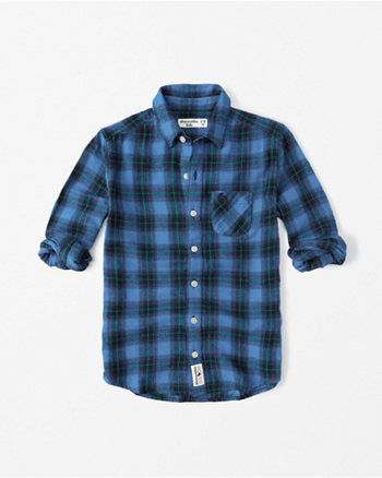 kids long-sleeve flannel shirt