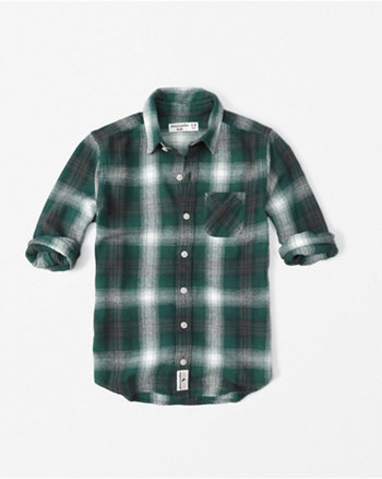 kids long sleeve flannel shirt