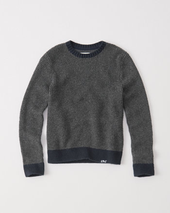 kids waffle crew sweater