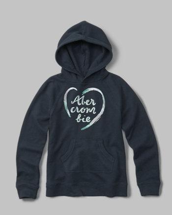 kids logo split-back hoodie